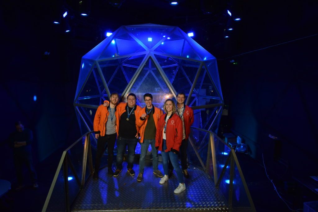 My team having just won the dome at the Crystal Maze!
